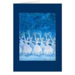 雪の精の踊り バレエグリーティングカード TARJETA DE FELICITACIÓN