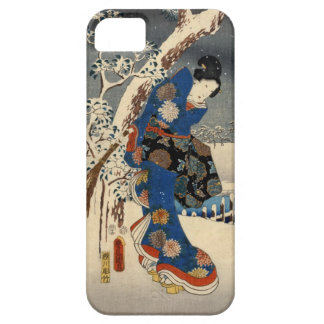 雪の芸者, 豊国 Geisya in Snow, Toyokuni, Ukiyo-e iPhone SE/5/5s Case