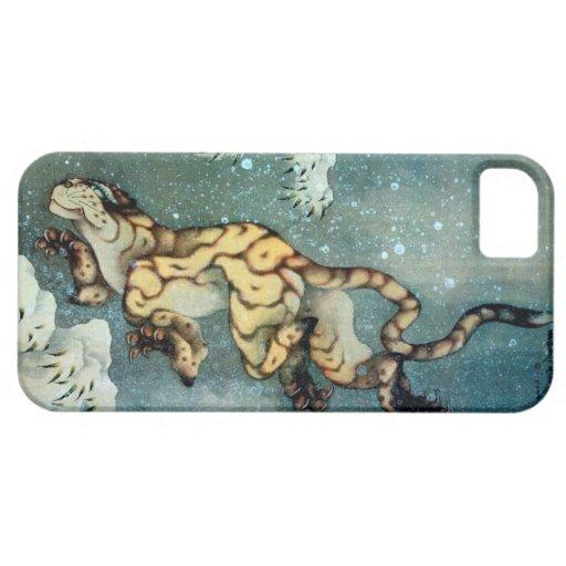 雪中虎図, 北斎 Tigerin theSnow, Hokusai, Art iPhone 5 Cases