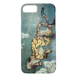 雪中虎図, 北斎 Tigerin theSnow, Hokusai, Art iPhone 7 Case