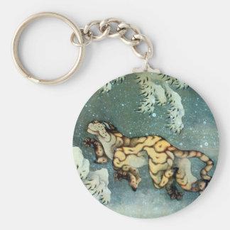 雪中虎図, 北斎 Tigerin theSnow, Hokusai Key Chain
