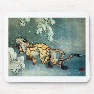 雪中虎図, 北斎 Tigerin theSnow, Hokusai Mousepads