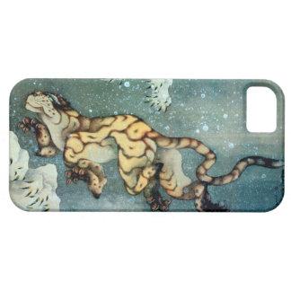 雪中虎図, tigre en la nieve, Hokusai, arte del 北斎 iPhone 5 Case-Mate Cobertura