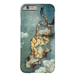 雪中虎図, tigre en la nieve, Hokusai, arte del 北斎 Funda Barely There iPhone 6