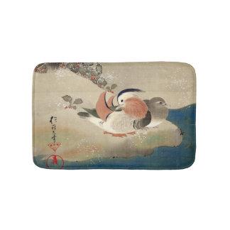 雪中鳥図(部分), 抱一 Birds in the Snow(detail), Hōitsu Bathroom Mat