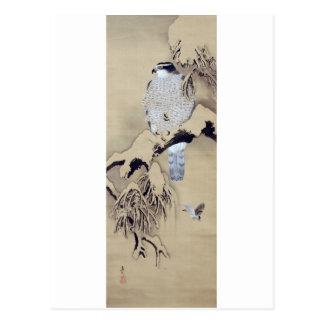 雪中鷹図, 柴田是真 Hawk in the Snow, Shibata Zeshin Postcards