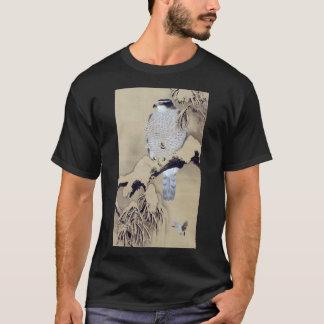 雪中鷹図, 柴田是真 Hawk in the Snow, Shibata Zeshin T-Shirt