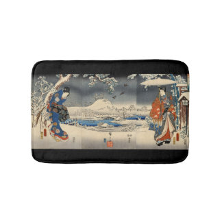 雪景色の恋人, 豊国 Lovers in The Snow Scene, Toyokuni Bath Mat