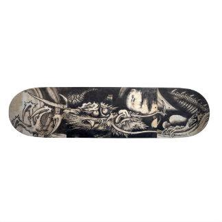 雲龍図, 曾我蕭白 Dragon with Cloud, Sumi-e Skate Board Decks