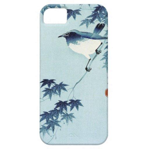 青い鳥, pájaro del 古邨 en el azul, Koson, Ukiyo-e Funda Para iPhone SE/5/5s