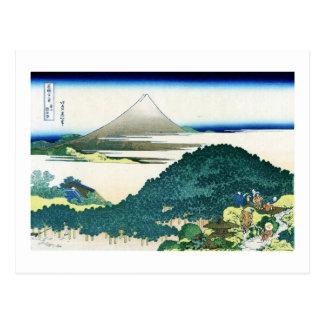 青山円座松, 北斎 View Mt.Fuji from Aoyama, Hokusai, Ukiyo Postcard