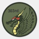 飛行隊パッチ 303o TFS del 第 303 Pegatinas Redondas