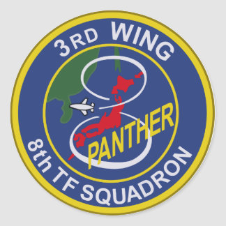 飛行隊パッチ del 航空団第 8 del 第 3 pegatina redonda