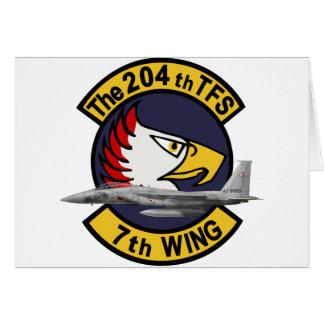 飛行隊戦競塗装 2010 del 第 204 tarjeta de felicitación