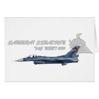 飛行隊戦競塗装 2010 del 第 3 tarjeta de felicitación