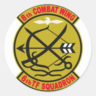 飛行隊 del 航空団第 6 del 航空総隊西部航空方面隊第 8 pegatina redonda