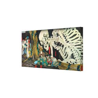 骸骨, 国芳 Skeleton, Kuniyoshi, Ukiyo-e Canvas Print