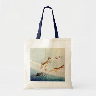 鮎, 北斎 Sweetfish, Hokusai, Art Tote Bag