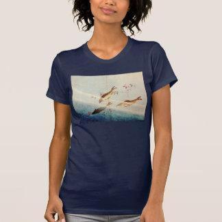 鮎, 北斎 Sweetfish, Hokusai, arte Camiseta