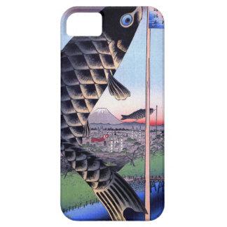 鯉幟と富士山, 広重 Carp Streamer and Mount Fuji, Hiroshige iPhone SE/5/5s Case