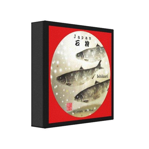 鰊!100年保存 【30.48×30.48】サイズ希望。 GYOTAKU JAPAN 【石狩】  張りキャンバスプリント