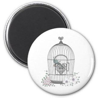 鳥かご 2 INCH ROUND MAGNET
