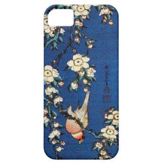 鳥と枝垂桜, pájaro y cerezo que llora, Hokusai del 北斎 iPhone 5 Cárcasas