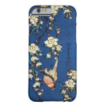 鳥と枝垂桜, pájaro y cerezo que llora, Hokusai del 北斎 Funda De iPhone 6 Barely There