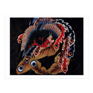 鳳凰図 chino Phoenix Hokusai arte del 北斎 Tarjetas Postales