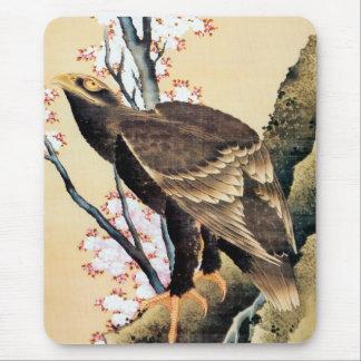 鷲と桜, 北斎 Eagle and Cherry Blossoms, Hokusai Mouse Pad