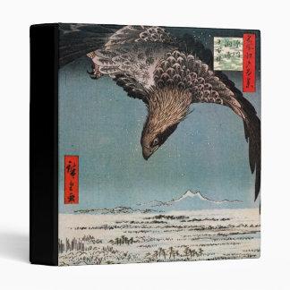 鷲と雪景色, 広重 Eagle and Snow Scene, Hiroshige 3 Ring Binder