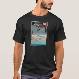 鷲と雪景色, 広重 Eagle and Snow Scene, Hiroshige T-Shirt