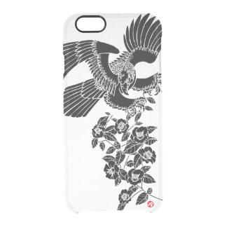 鷹椿 del halcón y de la camelia funda clearly™ deflector para iPhone 6 de uncommon