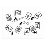 麻雀猫 mahjong cat はがき