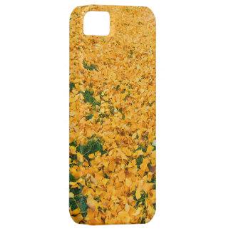 黄色の葉 iPhone 5 CARCASAS