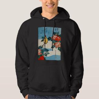 黄鳥と薔薇, 北斎 Yellow Bird and Rose, Hokusai, Ukiyo-e Sweatshirt