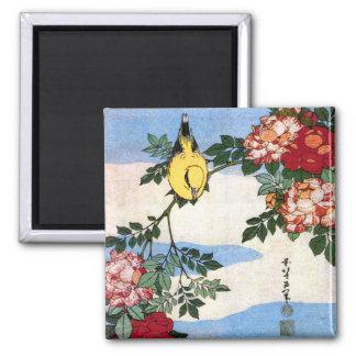 黄鳥長春 Nightingale 葛飾北斎 Hokusai Refrigerator Magnets