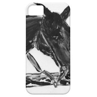 黒い馬 iPhone 5 FUNDAS