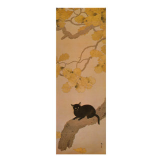 黒猫, 春草 Black Cat, Shunsō Poster