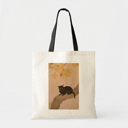 黒猫, 春草 Black Cat, Shunsō Tote Bag