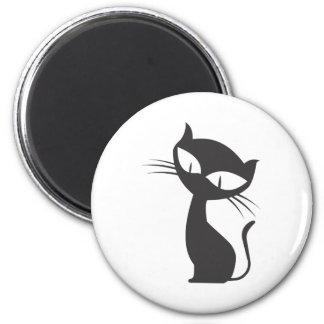 黒猫 2 INCH ROUND MAGNET