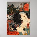 龍の刺青の役者, 国芳 Actor of Dragon's Tattoo, Ukiyoe Print