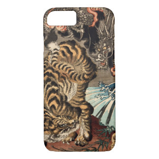 龍虎, 国芳 Tiger & Dragon, Kuniyoshi, Ukiyo-e iPhone 8/7 Case