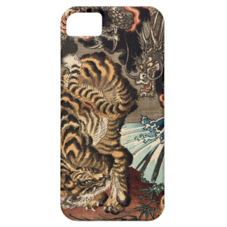 龍虎, 国芳 Tiger & Dragon, Kuniyoshi, Ukiyo-e iPhone SE/5/5s Case