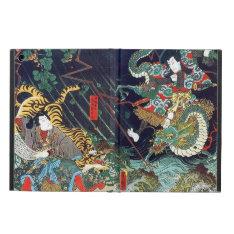 龍虎, 豊国 Dragon & Tiger, Toyokuni, Ukiyo-e Case For Ipad Air at Zazzle