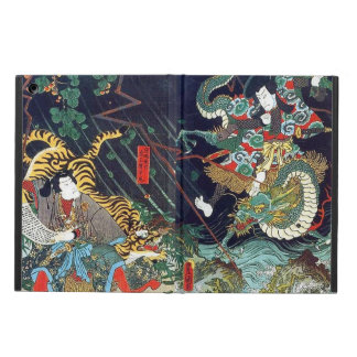 龍虎, 豊国 Dragon & Tiger, Toyokuni, Ukiyo-e Case For iPad Air