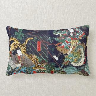 龍虎, 豊国 Dragon & Tiger, Toyokuni, Ukiyo-e Pillow