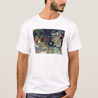 龍虎, 豊国 Dragon & Tiger, Toyokuni, Ukiyo-e T-Shirt