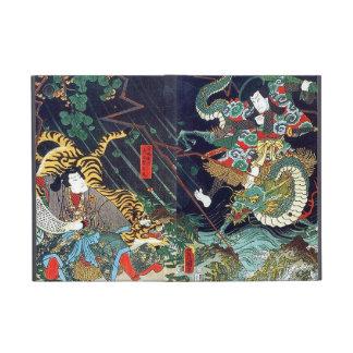 龍虎, dragón y tigre, Toyokuni, Ukiyo-e del 豊国 iPad Mini Protector