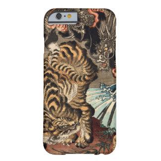 龍虎, tigre y dragón, Kuniyoshi, Ukiyo-e del 国芳 Funda De iPhone 6 Barely There